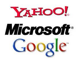 جوجل، ياهو، مايكروسوفت