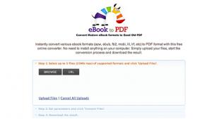 تحويل الكتب الإلكترونية إلى pdf