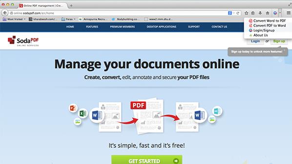 تحويل, مستندات, الى, pdf, متصفح, فايرفوكس