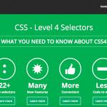خصائص لغة CSS 4, ميزات وخصائص لغة CSS 4, CSS 4