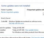 تحديث ويندوز, خطأ 646, التخلص من اخطاء تحديث الويندوز