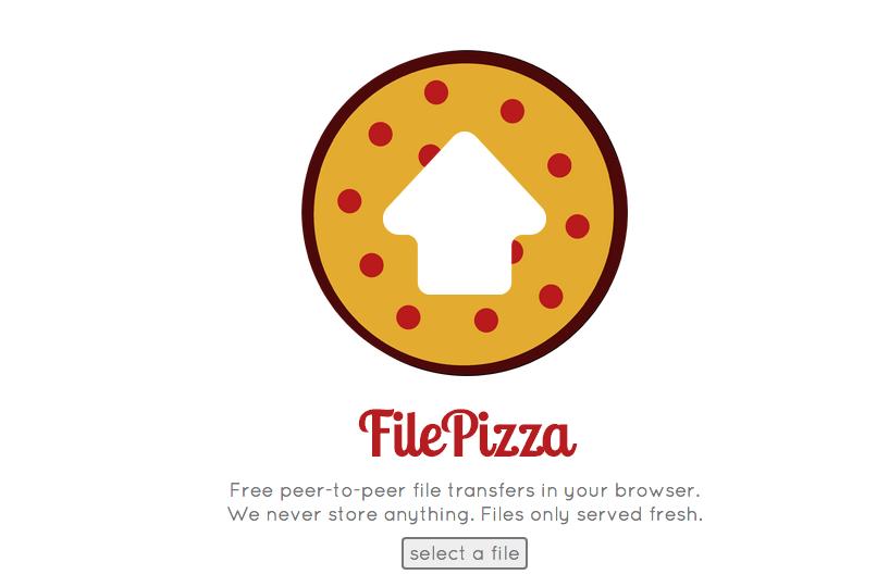 موقع لمشاركة الملفات دون رفعها على الإنترنت, الحفاظ على خصوصية الملفات, موقع file pizza