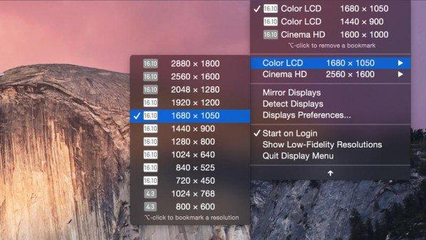 دقة الشاشة, تغيير دقة الشاشة, اجهزة ماك, نظام ماك