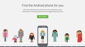 which one, جوجل, اداة لتحديد الهاتف المناسب, اندرويد, اجهزة اندرويد